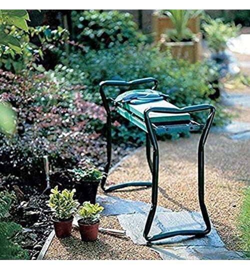 DJLOOKK Jardin Pliant Genou siège Chaise Coussin Tabouret Cadre en Acier Outil Jardinage Workseats Tabouret de Jardin Portable