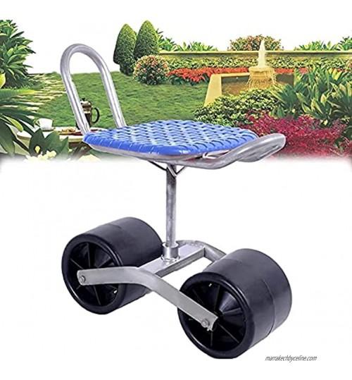 SKYWPOJU Tabouret de Jardin Pliable siège pivotant à 360 degrés réglable en Hauteur de 25 à 35 cm pour Le désherbage Le Jardinage et l'entretien des pelouses à l'extérieur Color : Blue