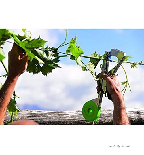 Pince legatrice à ruban pour opérations d'attache sur chaque type de plante. Utilisable avec rubans de différent épaisseur. Avec Façade chargement points boîtier Ruban à couvercle avec ouverture.