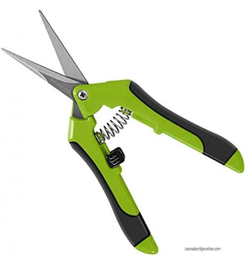 Ciseaux de taillage professionnels – Pointe droite élagage à la main de jardinage lames droites en acier inoxydable avec poignées confortables à ressort