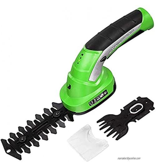 skrskr Cisailles à Gazon sans Fil 2 en 1 Taille-haie sécateurs électriques avec poignée rotative pour des Bords de pelouse Propres Arbustez-Le en Parfaite Forme