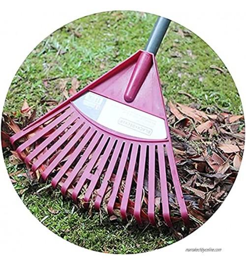 Rateau Jardin Rateau Feuille Râteau à gazon léger râteau de jardin outils de jardinage en plastique pour mauvaises herbes herbe à feuilles caduques pour un nettoyage rapide de la pelouse et de la