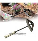 Binette creuse en acier trempé à la main compatible avec les poignées longues et courtes pour le jardinage le désherbage et la plantation de légumes