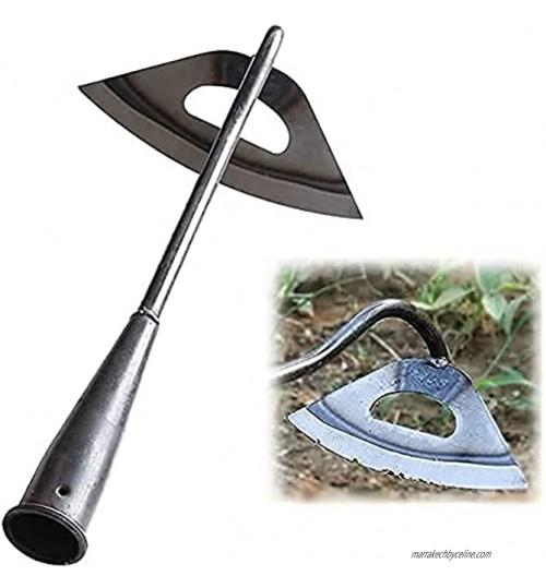 Binette de jardin – Houe creuse entièrement en acier trempé pour désherber à long manche outils de désherbage de jardin désherbage et desserrage facile du sol outil de jardinage durable et efficace