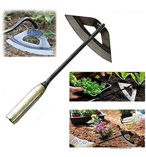 HAVAJ Binette creuse en acier trempé râteau de désherbage plantation de légumes outil de jardinage 1 pièce