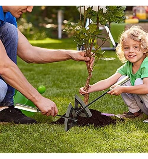 Houe creuse tout en acier durcie à main -outil de sol portatif en acier pour Creuser houe de plantation de jardin râteau de désherbage tenu dans la main Binette creuse pour jardinage