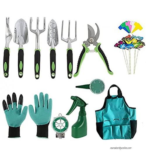 Outils de Jardinage,Ensemble d'outils de Jardinage,13 pcs Outils de Jardin en Aluminium,Kit de Jardinage avec Sécateur,pour Le Soin des Plantes d'intérieur et d'extérieur
