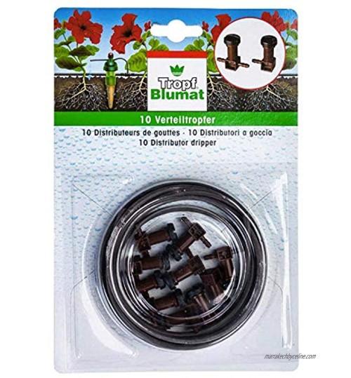 Blumat 10goutteurs de dérivation avec tube de 3mm pour et d'irrigation d'arrosage automatique 10 Pack 3mm