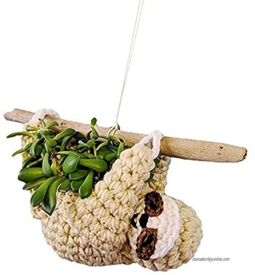 ZXZCHGN Planteur suspendu au crochet Sloth cadeaux paresseux pour femmes pour les plantes extérieures intérieures planteur de paresseuse pots succulents animaux jardinière suspendue à paresse po
