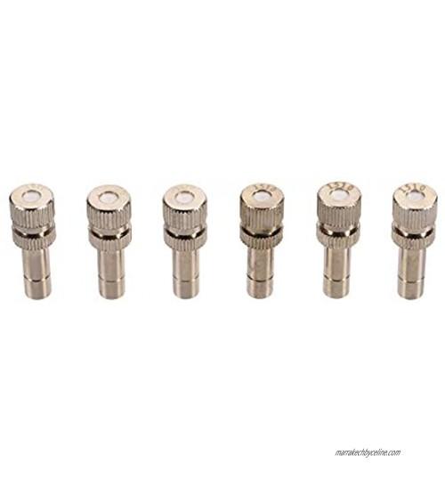 Adhere To Fly Lot de 10 têtes de raccord rapide en laiton à basse pression pour système de refroidissement buses de brumisation buses de pulvérisation 0,1 mm