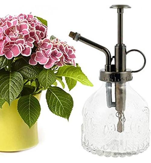 Arrosoir en verre pulvérisateur en verre spray rétro transparent pour arrosage petits arrosoirs avec pompe pour fleurs plantes jardin transparent