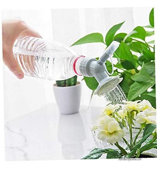 Bouteille Cap Sprinkler 2 en 1 plastique Buse d'arrosage pour fleurs Bouteille Arrosoirs Pomme de douche Outil de jardin Gris