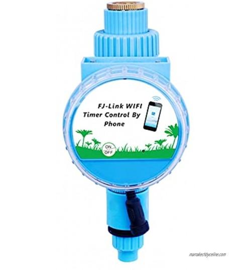 Flytise Minuterie d'arrosage Contrôleur d'irrigation automatique Minuterie d'arrosage APP Télécommande Connexion WiFi avec capteur de pluie pour les pelouses de jardin Patio Agriculture