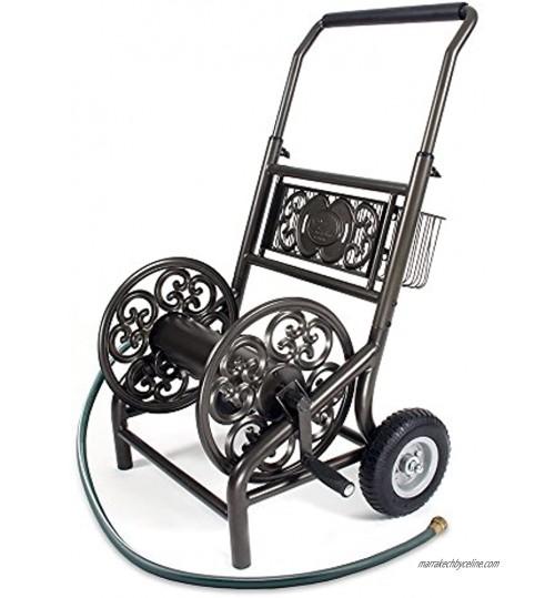Liberty Garden Products 301jamais support 2roues décoratifs chariot Enrouleur de tuyau d'arrosage Holds-200-feet Tuyau de 5 20,3cm–Bronze