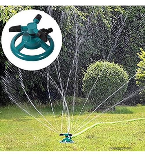 Mothinessto Arroseur d'eau Rotatif Arroseur d'irrigation à 3 Buses Arroseur d'irrigation Rotatif Irrigation à 3 Buses pour l'irrigation du Jardin