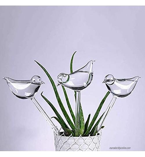 5LOT Arrosage Automatique En Verre Abreuvoir De Plantes Globes En Forme D'oiseau Transparent Pour Plantes D'intérieur Jardin Stakes Fleurs