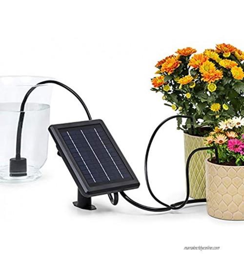 Blumfeldt Greenkeeper Solar Système d'irrigation : avec panneau solaire batterie : 1.500 mAh écologique pour jusqu'à 40 plantes filtre à particules débit : 2 l min installation facile noir