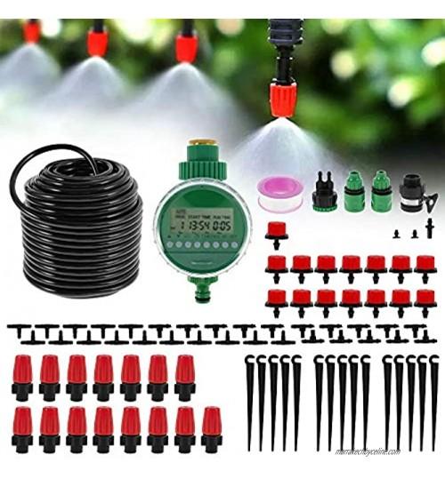 N S Kit d'irrigation Goutte 25M Kit Arrosage Automatique Goutte à Goutte avec Programmateur de Système d'Arrosage pour Jardin Serre Potager Plante Pelouse Paysage