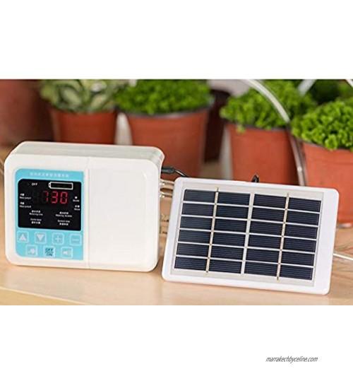 Système d'arrosage à goutte à énergie solaire simple pompe double appareil d'arrosage automatique minuterie kit d'auto-arrosage de jardin pour fleurs E
