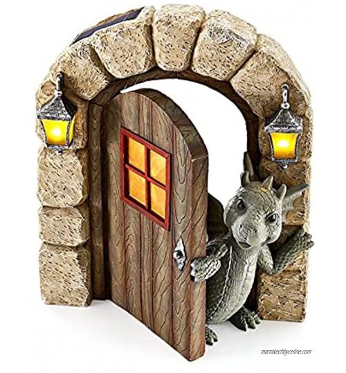 VENTDOUCE Dragon Statue Jardin Dragon Sculpture Livre de Lecture Dragon Jardin Décor Résine Ornement Dragon Figurine pour Extérieur ou Maison Décor Pot de Fleurs Bibliothèque Collection