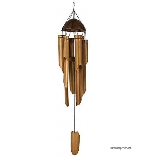 Waroomss Carillon De Vent en Bambou Carillons Éoliens De Musique en Bois Faits À La Main en Plein Air Beau Son Naturel pour Le Jardin La Terrasse La Décoration Intérieure Ou Extérieure