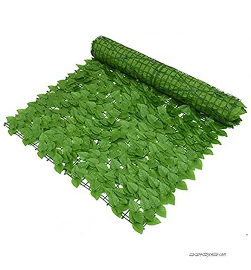 GHLSDXTJ Lierre Artificielle Plantes Guirlande Vigne Balcon Paravent Jardin Mur de haie d'intimité Terrasse Décoration Clôtures décoratives Mur végétal Clôture d'intimité Color:,Size:1x5m
