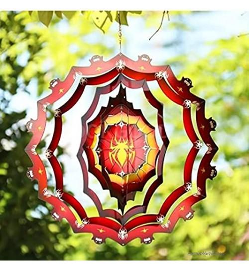 LEMOKIKI Décoration de Spinner Suspendu cinétique Spinner à Vent de Jardin Motif d'araignée 3D Artisanat Sculptures en métal en Acier Inoxydable Décorations de carillons éoliens