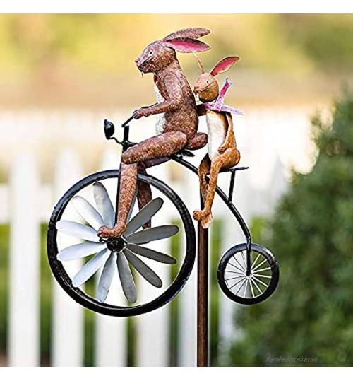 Taloit Mobile à vent vintage en métal pour décoration de jardin cour pelouse