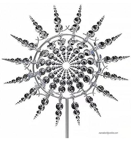 TYIONCI Moulin à vent en métal unique Moulin à vent en métal Sculpture de jardin en métal Attrape-vent en métal Pour extérieur cour pelouse jardin