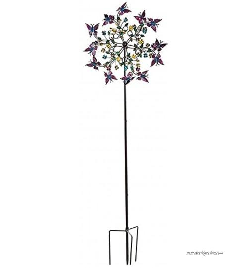 Yajun Exquis Jardin Windmill Piquets en Métal Papillon Moulin à Vent Art Décoration Rotation Fête Wind Spinner sans Facile À Rouille