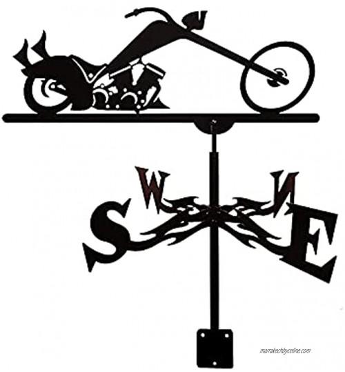 COMY Girouette de Inoxydable Orientation du Vent Indicateur Weathercock Design Rétro Girouette Outils de Mesure pour Jardin sur Le Toit extérieur
