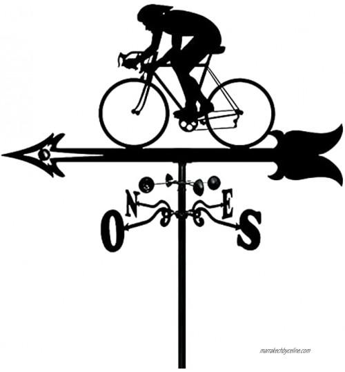 Girouette Du Vent Les cyclistes Girouette Mesure Ornement MéTal Jardin Toit Montage Vent Direction Indicateur Antirouille UV-Resistan ExtéRieur pour Jardin DéCoration