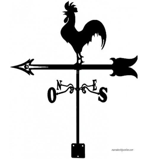 Girouettes Coq Chant en Acier Inoxydable Girouette Indicateur De Direction du Vent Creative Aircraft Sculptures Girouette pour Outdoor Animal Support Décor Artisanat Vif