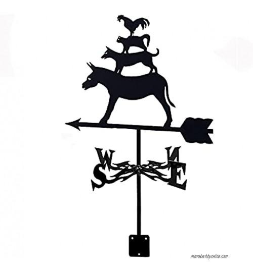GXXDM girouettes Sculptures créatives girouette en Acier Inoxydable Outils de Mesure girouette avec revêtement antirouille Durable Jardins extérieurs Maisons Patio pelouses