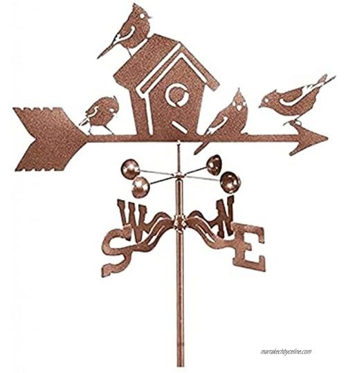 LalaHook Girouette pour Animaux de Compagnie nid d'oiseau girouette indicateur de Direction du Vent girouette en Acier Inoxydable Outils de Mesure pour Support d'animaux en Plein air décor Artisanat