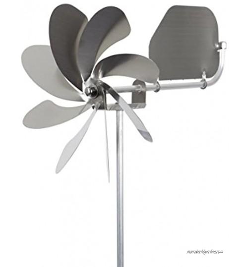 steel4you Moulin à vent SKARAT A1004 Speedy20 Plus en acier inoxydable 20 cm de diamètre roulement à billes avec drapeau à vent rotatif à 360° Fabriqué en Allemagne