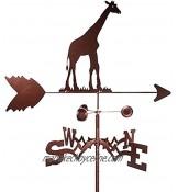 YIPUTONG Outil de Mesure de girouette en métal de girouette Arbres Girafe Canard Bouchon de Jardin de girouette d'âne décoration de Toit d'indicateur de Direction de Vent de Poteau