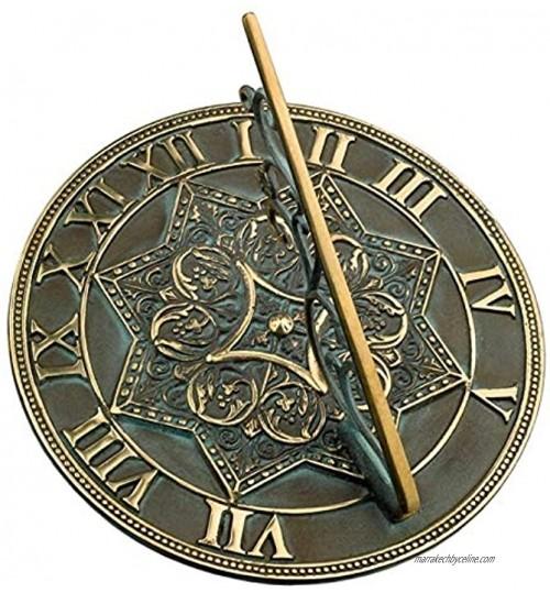 Cadran solaire gothique antique en laiton