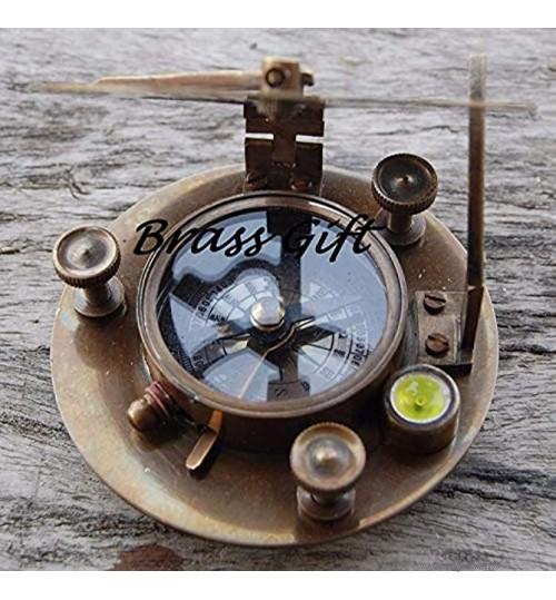 india.nautical.handicraft Cadran solaire en laiton Ouest London-boussole maritime Navigation Astrolabe