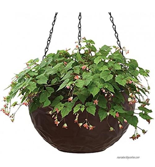 Otherway Pots De Fleurs À Suspendre Pot De Fleur en Plastique À 2 Couches Jardinières Suspendues avec Trou De Vidange À Chaîne Suspensions pour Plantes D'intérieur Ou D'extérieur