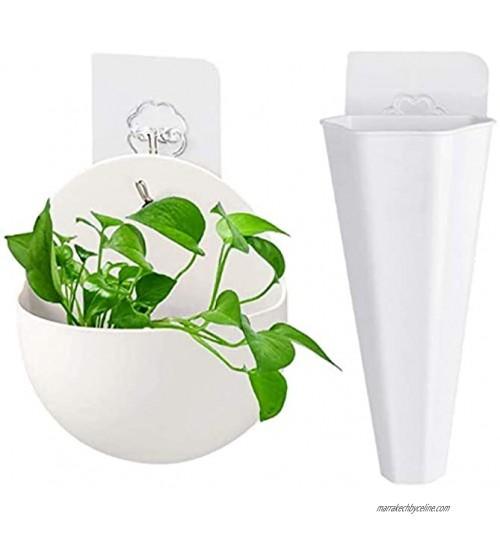 Pot de Fleur Semi Circulaire Vase Suspendu Aquarium Suspendu Pot de Plante Succulente Vase Géométrique Fixé au Mur Suspendue Vase Vases À Suspendre Au Mur en Plastique pour la Décoration 2 pièces