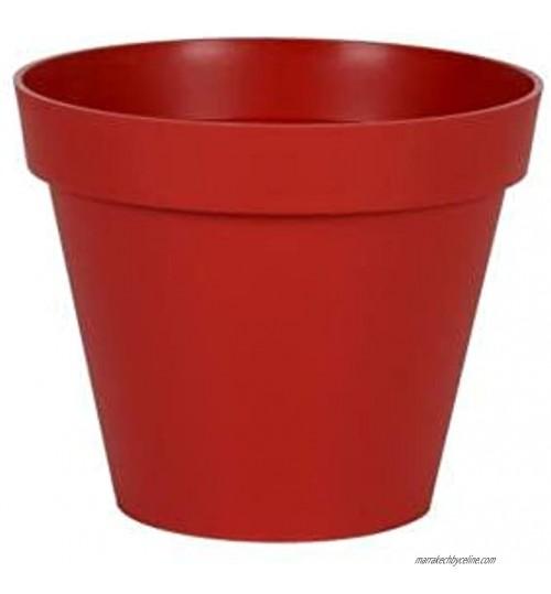 Pot rond Toscane XL Rouge Rubis 80x66cm 170L EDA Plastiques